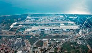 Vista aérea del aeropuerto de Barcelona.