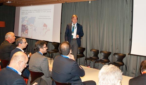 Luis Gabiola, director de Operaciones de la Autoridad Portuaria de Bilbao, durante su intervención en una jornada sobre 'puertos inteligentes, organizada también por Executive Forum y Eurogestión.