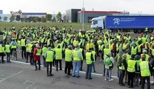Protesta de los chalecos amarillos en Francia.