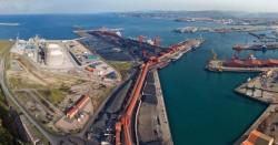 Imagen de las instalaciones de Ebhisa en el puerto de Gijón.