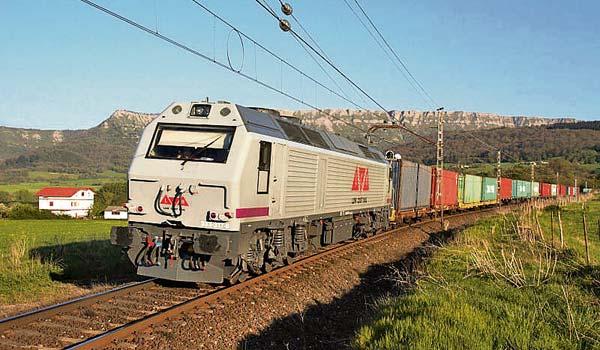 Imagen de un tren operado por Low Cost Rail, uno de las empresas ferroviarias privadas. Foto: LCR