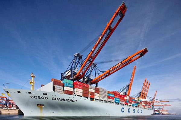 El transportista COSCO compartirá información para mejorar la cadena de suministro.
