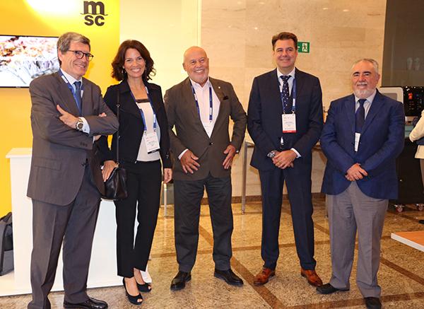 Directivos de MSC España y del puerto de Valencia en Cool Logistics Global.