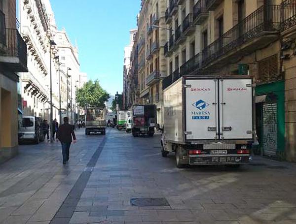 Los vehículos de distribución resultarán afectados.
