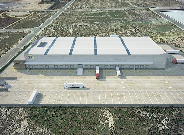 Imagen virtual de la futura plataforma de GB Grupajes en Monforte del Cid.