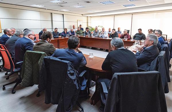 Instantánea de la Comisión Negociadora del V Acuerdo Marco de Estiba.