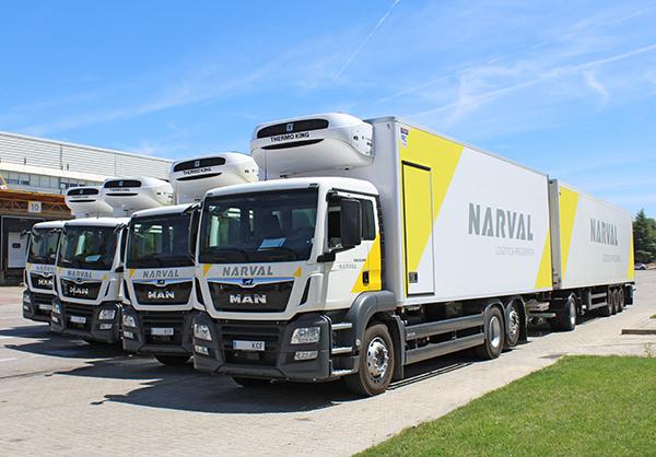 Transportes Frigoríficos Narval dispone de una flota integrada por más de cien unidades de camiones.