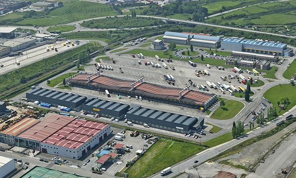 Imagen de las instalaciones del Centro de Transporte de Gijón.