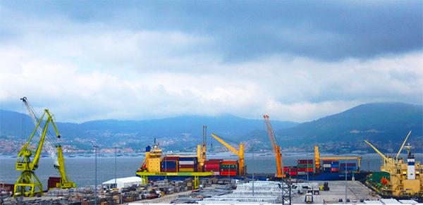 Instalaciones de Kaleido Logistics en el puerto de Vigo.