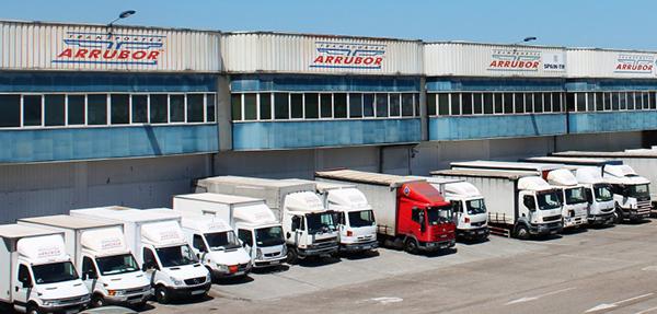 Imagen de las instalaciones de Transportes Arrubor en el CT de Santander.
