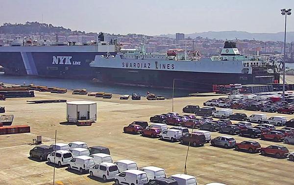 Imagen de la terminal ro-ro de Bouzas en el puerto de Vigo.