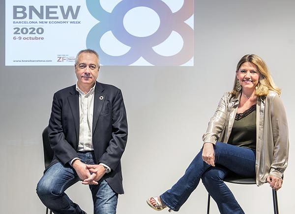 Pere Navarro y Blanca Sorigué, ayer, en la presentación.