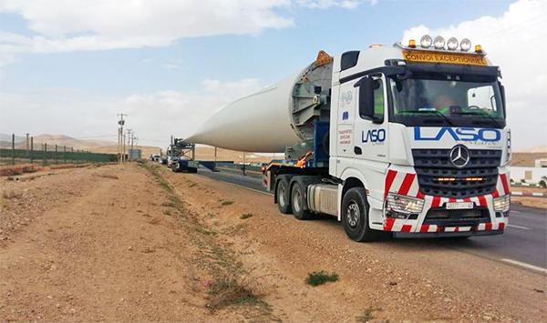 Operativa de Laso Lasarte Wind para el parque eólico de Midelt.