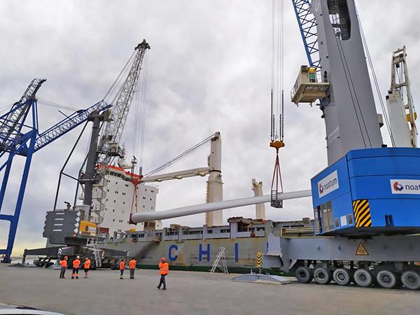 La operativa de desestiba del material fue realizada por la terminal de Marmedsa.