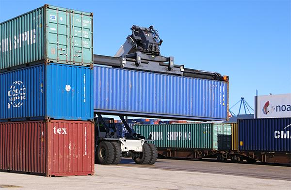 El tráfico ferroportuario de contenedores creció un 6,7 por ciento en 2019.