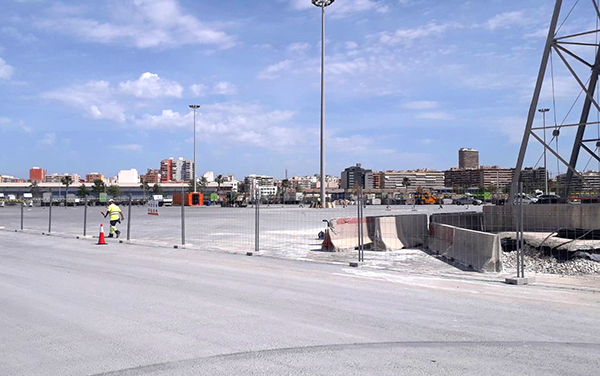 Eiffage ha iniciado las obras en el Muelle 17 del puerto de Alicante.