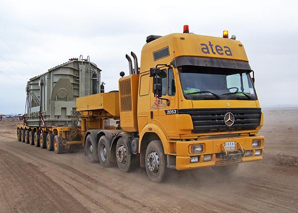 Operativa logística de un transporte especial de Atea en el este de África.