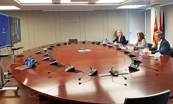 Consejo de administración extraordinario virtual ayer.