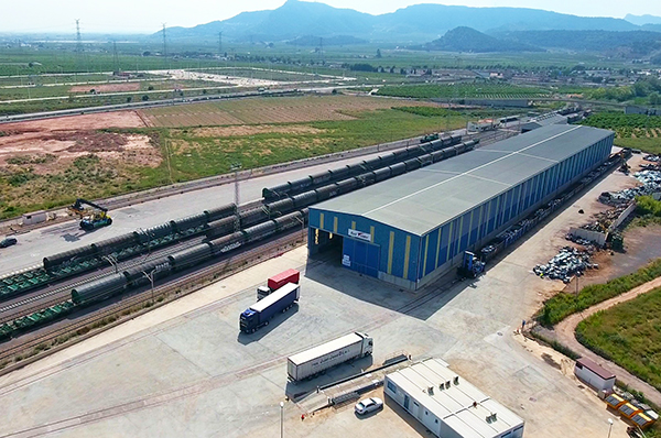 Railsider Mediterráneo manipuló en Sagunto 203.033 toneladas en 2019.
