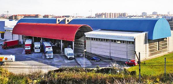 Imagen de las nuevas instalaciones de Grupo Enora en el Centro de Transportes de Gijón.