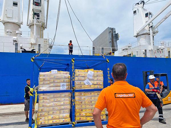 La carga, realizada por Logistika 360, ha sido una operación inédita en Algeciras.