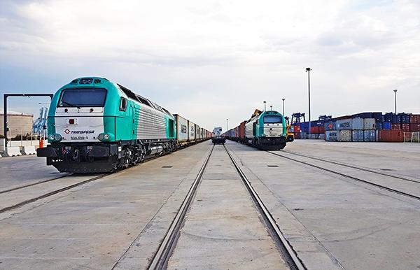 Imagen de la terminal ferroportuaria de Bahía de Algeciras.