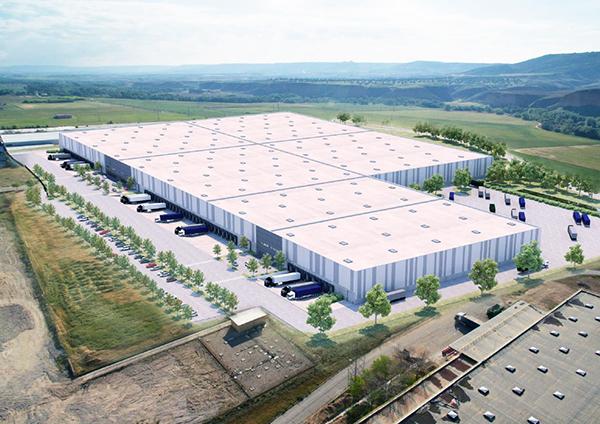 Imagen de la futura plataforma logística de Amazon en Alcalá de Henares (Madrid).