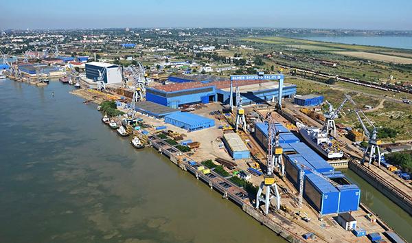 La grada de Galati junto a la Mangalia son los mayores astilleros del grupo Damen.