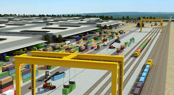 Recreación de la futura terminal intermodal.