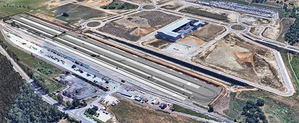 Imagen virtual del futuro 'puerto seco' de la Zona de Actividades Logísticas de Algeciras.