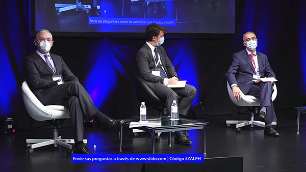 Ignacio Álvarez-Ossorio, Francisco Javier Miranda Descalzo y Arsenio Martínez.
